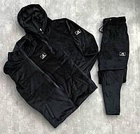 Комплект Кофта + Штаны + Жилетка Спортивный костюм мужской Adidas (Адидас) весенний велюровый ЛЮКС качества