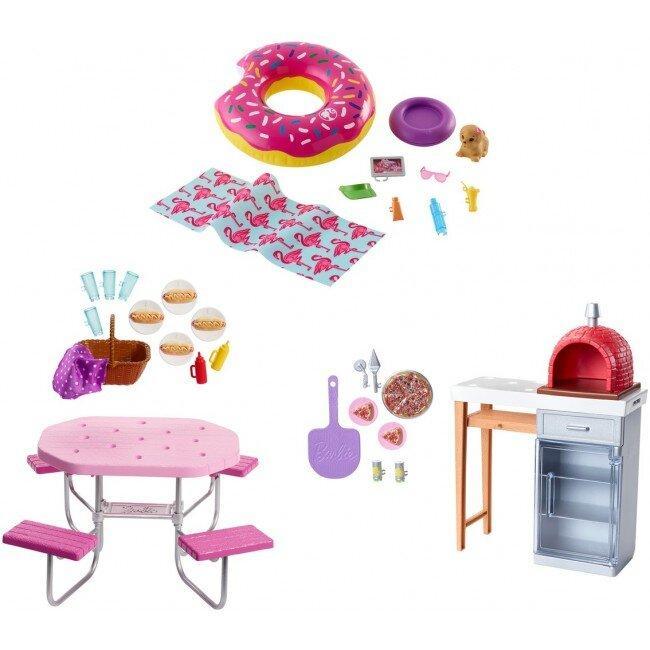 Набір меблів і аксесуарів для відпочинку на природі Barbie (в асс.)