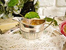 Серебряный молочник, соусник, серебро 925 пробы, столовое серебро,  William Aitken, 1919 г. Англия Birmingham
