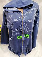 Вітровка жіноча тканинна на блискавці з капюшоном вишивка розміри батальні 50-58, колір уточнюйте при замовленні