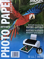 Фотобумага Magic A4 Матовая/Матовая 180 гр 50 л