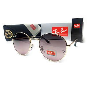 Солнцезащитные Очки R-B Round Metal 3447 C5 Золотая Оправа