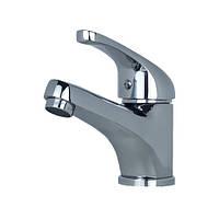 Короткий однорычажный кран смеситель для умывальника в ванную Globus Lux Solly GLSO-0101