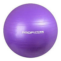 Мяч для фитнеса (фитбол) Profi Ball - 65 см фиолетовый M 0276_4
