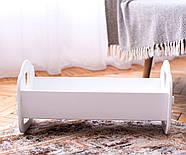 """Деревянная кроватка-люлька """"Манюня"""" NestWood для Беби Борна и пупсов белая, фото 2"""
