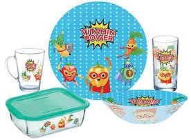 Детский набор столовой посуды Luminarc Vitamin Power P7869 5 предметов