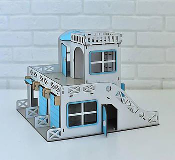 Двухэтажный гараж-парковка NestWood синий
