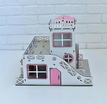 Двухэтажный гараж-парковка NestWood розовый