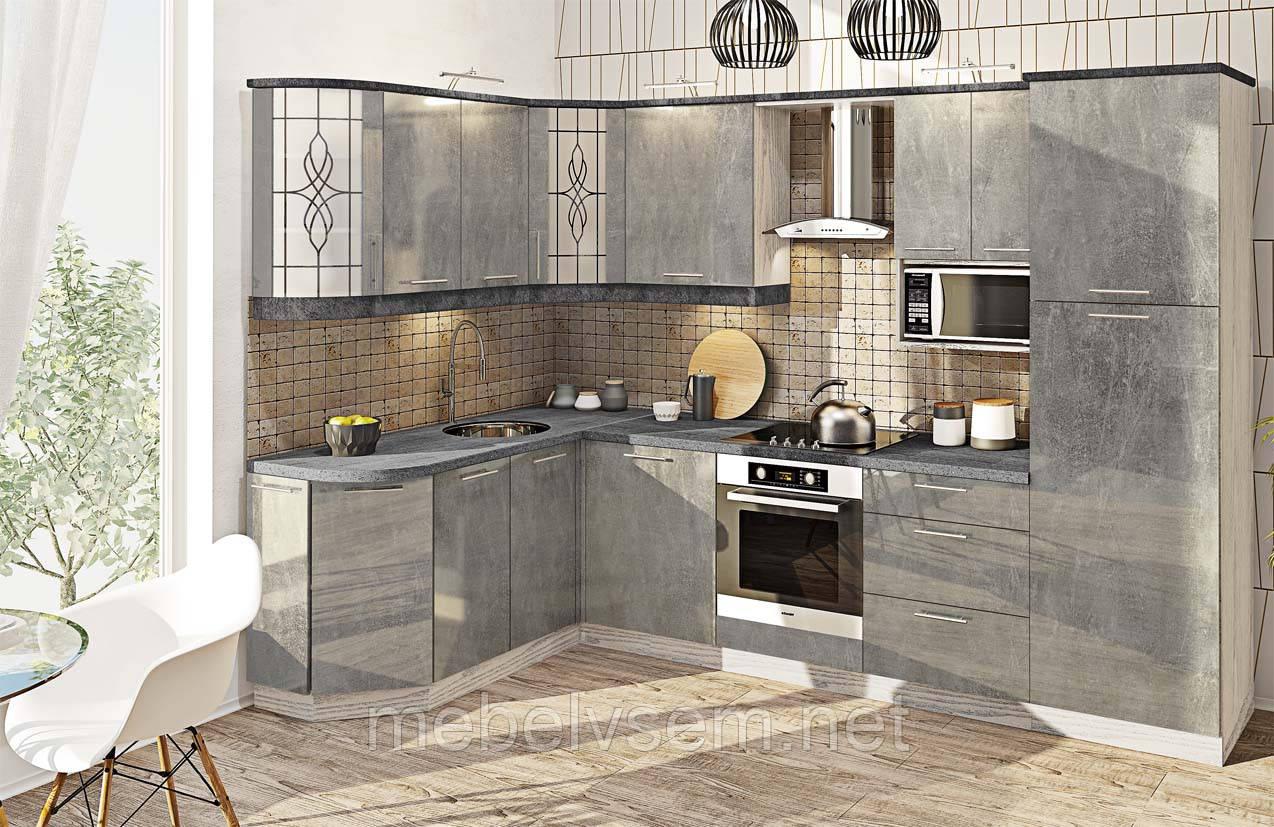 Кухня КХ 6736 крашенный высокий глянец Комфорт Мебель