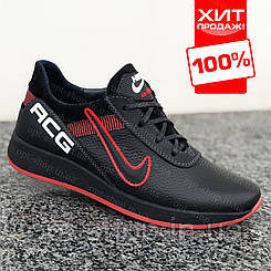 Дитячі шкіряні кросівки для хлопчика чорні Nike від виробника,кросівки дитячі шкіряні хлопчачі