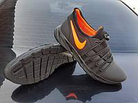 NIKE FIRE orange мужские кожаные кроссовки без шнурков на резинке найк