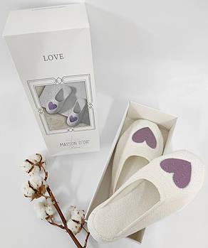 Тапочки Maison D'or Love Slipper Lilac