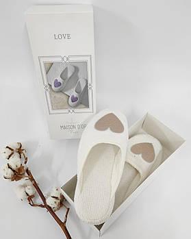 Тапочки Maison D'or Love Slipper Beige