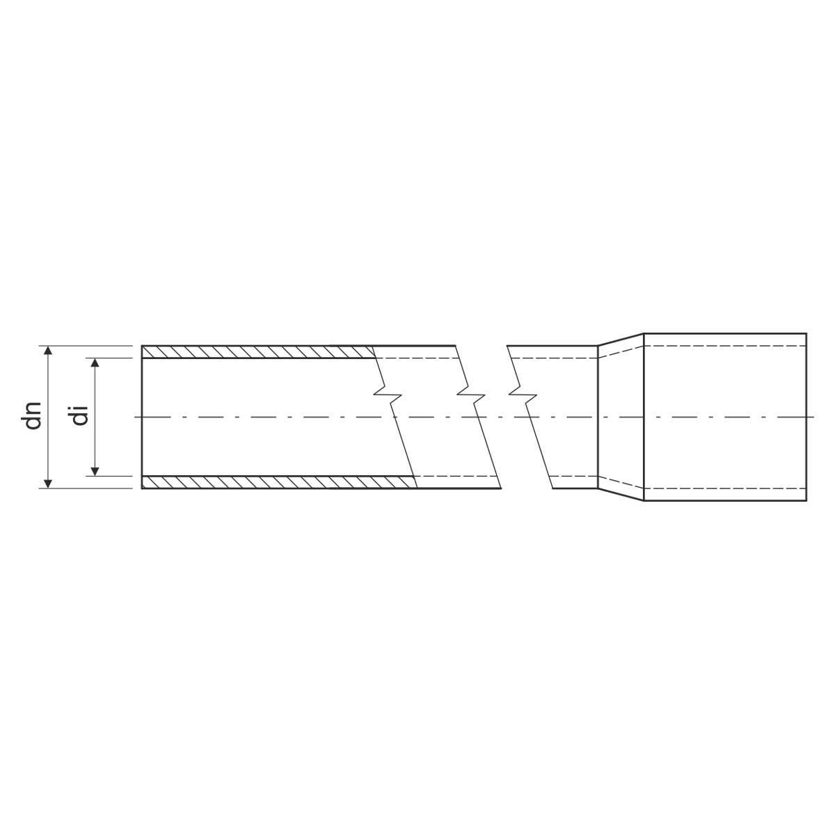 Труба жорстка 750 N/5см з раструбом для з'єднання; Ø20мм; РС; безгалогенна; довжина 3м; застосування -45+90