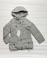 Демисезонная куртка на синтепоне для девочек. 134- 158 рост.
