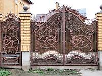 """Эксклюзивные кованые ворота, неповторимая ручная ковка. Супер качественная покраска """"Alpina"""""""