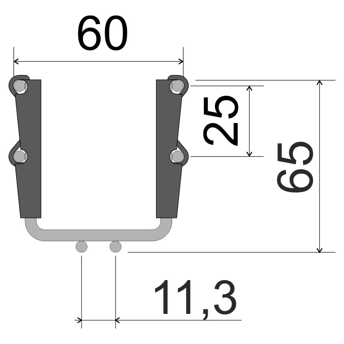 Лоток кабельний сітчатий KOPOS; розміри-60x60x3000mm Товщ. метал-4 Вага-0,54кг/м