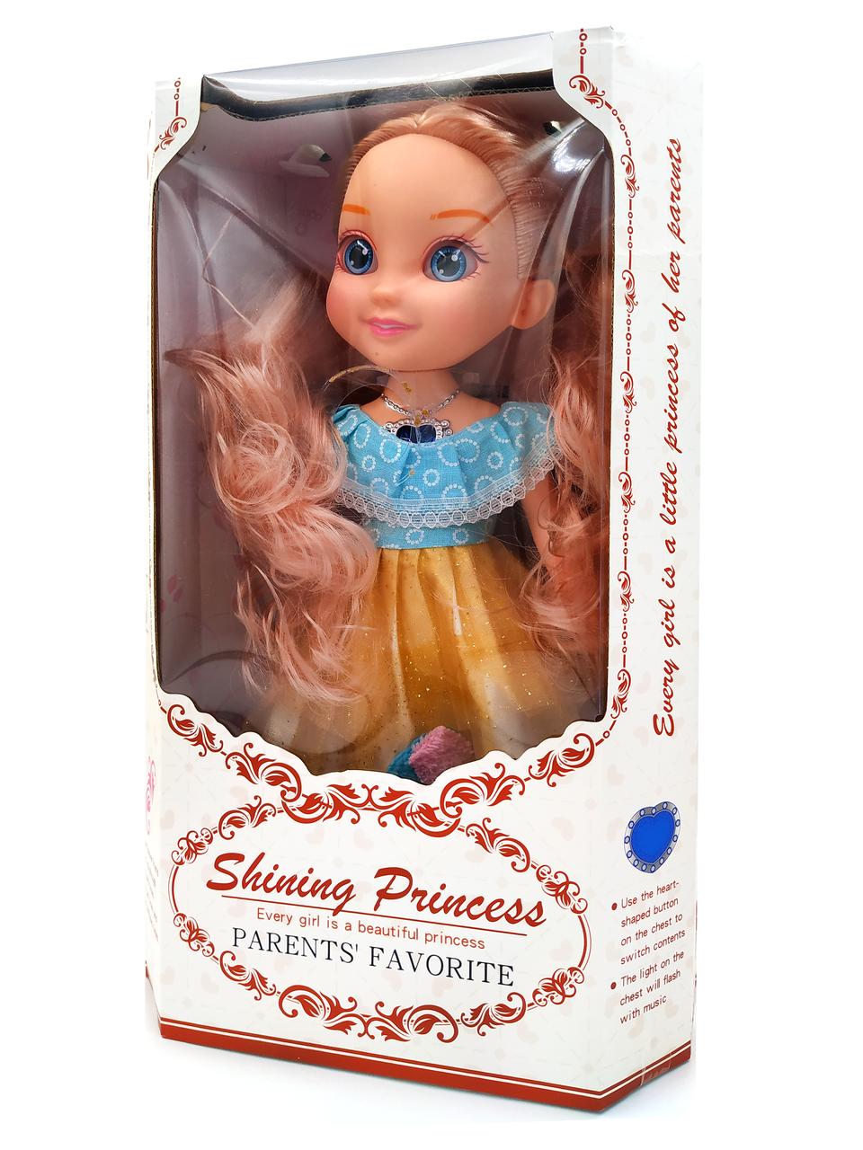 Музыкальная Кукла Shining Princess в цветном кружевном платье