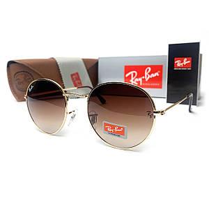 Солнцезащитные Очки R-B Round Metal 00151 Коричневые