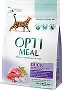 Optimeal Оптимил с уткой 4 кг (годен до 07.02.21) вывеление шерсти для кошек