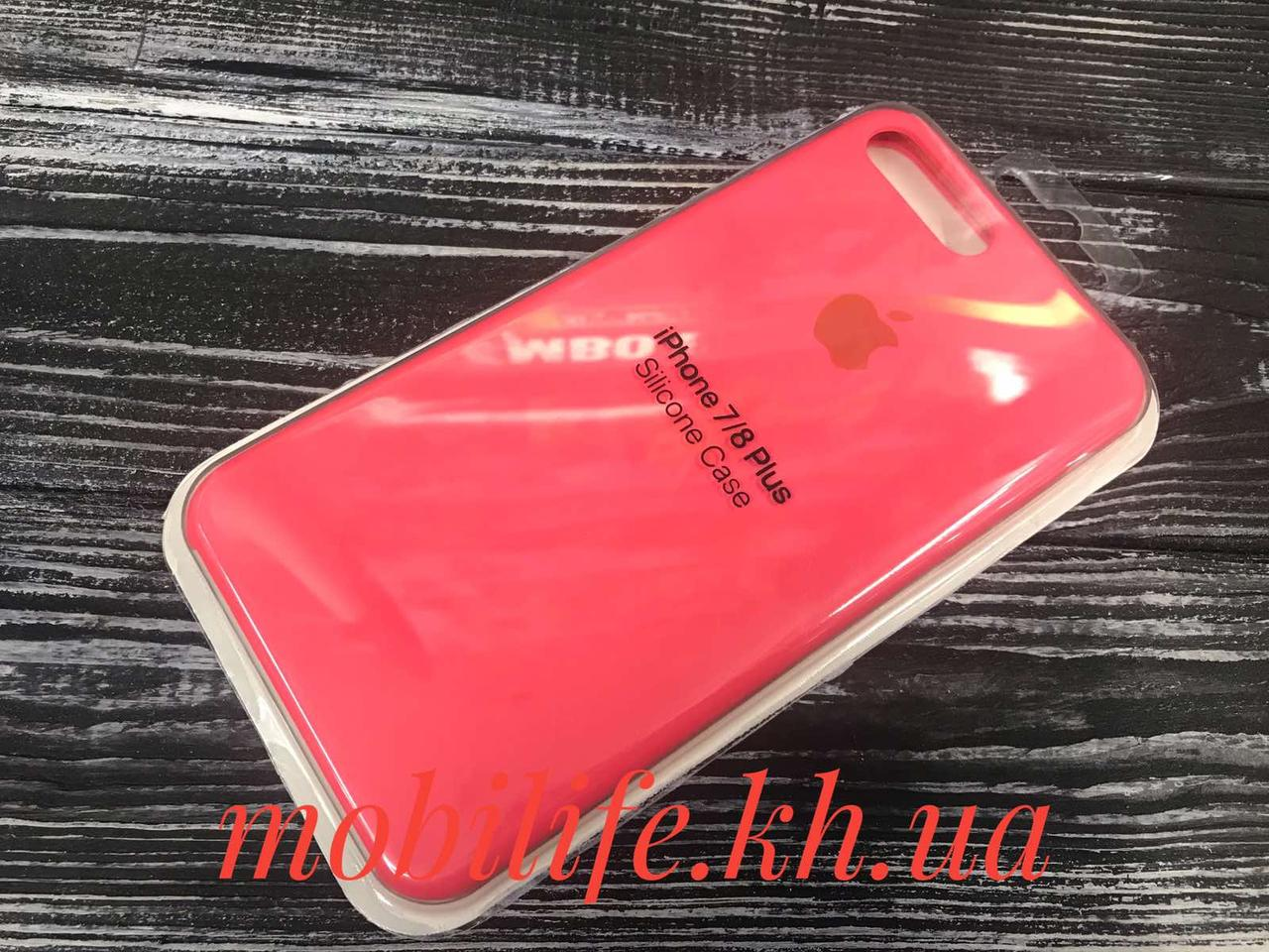 Silicon Case Original Apple iPhone 7Plus,8Plus/Коралл/Высокое Качество/