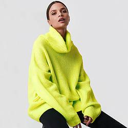 Свитер женский неоновый oversize Brightness Berni Fashion (S)