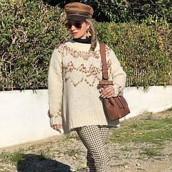 Свитер женский с пайетками Radiance Berni Fashion (One Size)