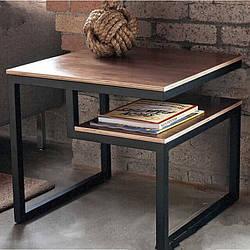 Стол журнальный GoodsMetall из металла, в стиле LOFT 600х500х500 СТЖ2