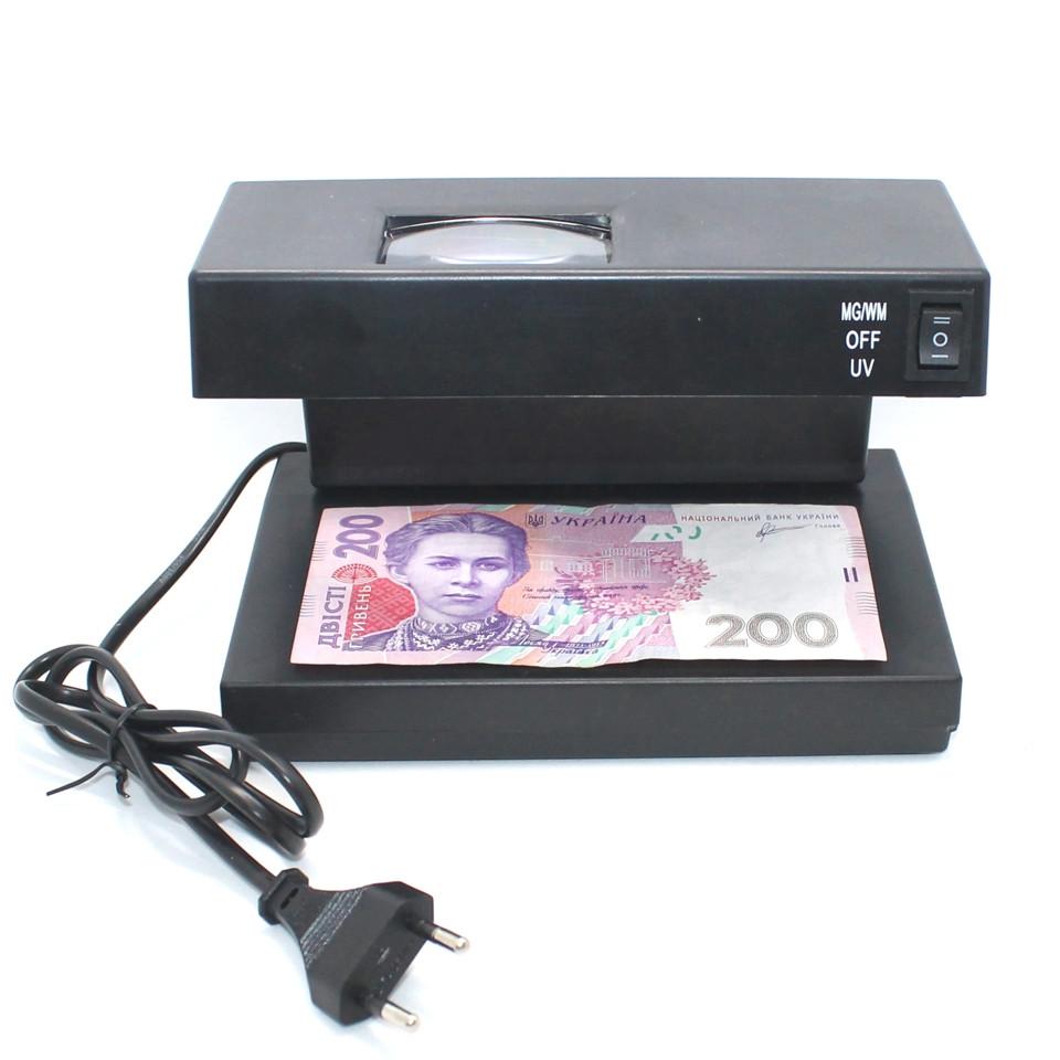 Ультрафиолетовый детектор валют для проверки денег и купюр УФ Money Detector AD-2138 220V Детекторы для денег