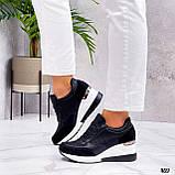 Сникерсы / кроссовки  женские белые с черным эко кожа+ текстиль, фото 2