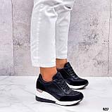 Сникерсы / кроссовки  женские белые с черным эко кожа+ текстиль, фото 6
