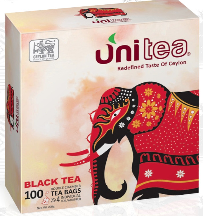 Цейлонский чай в пакетиках черный Unitea 100 шт.