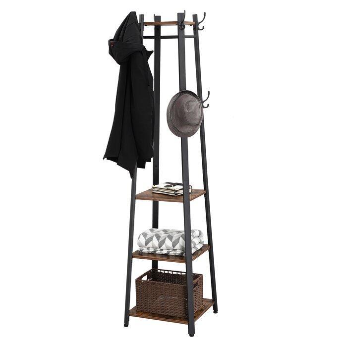 Вешалка стойка для одежды GoodsMetall в стиле Лофт 1800х450х450мм ВШ1125