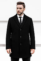 Мужское короткое классическое пальто Asos стильное, турецкое качество, пальто демисезонное, цвет черный