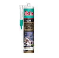 Силиконовый клей-герметик черный аквариумный Akfix 100AQ 280 мл (Силикон для аквариумов акфикс)
