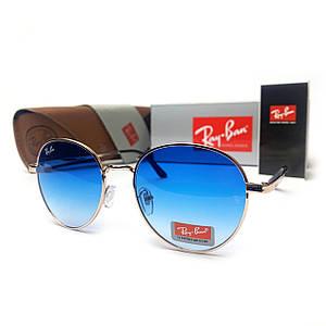 Солнцезащитные Очки R-B Round Metal 663 C6 Голубые