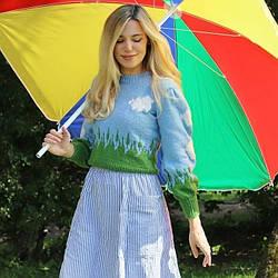 Свитер женский вязаный Nature Berni Fashion (One Size)