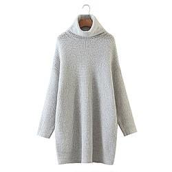 Свитер женский удлиненный Gray Berni Fashion (One Size)