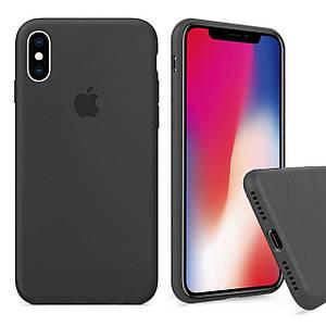 Чехол накладка xCase для iPhone X/XS Silicone Case Full темно-серый