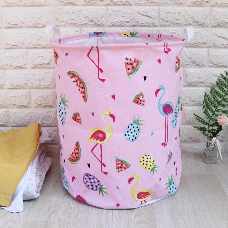 Корзина для игрушек, белья, хранения Розовый фламинго Berni Home