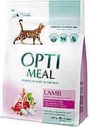 Optimeal Оптимил с ягненком 10 кг (годен до 26.04.21) чувствительное пищеварение для кошек