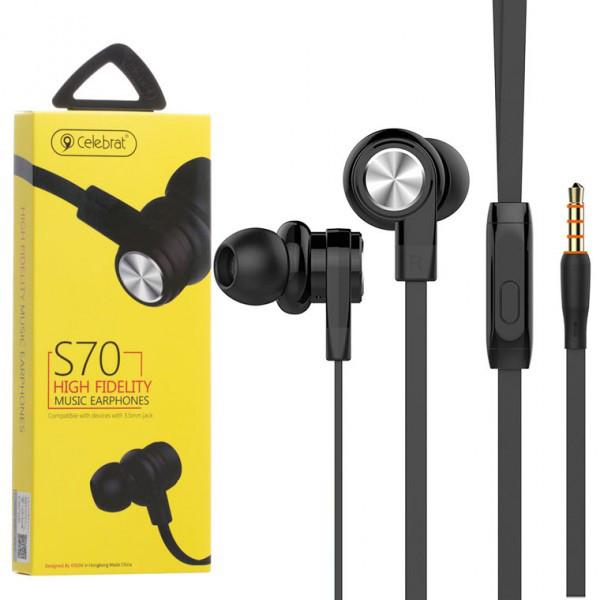 Навушники Celebrat S70 Колір Чорний