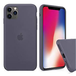 Чохол накладка xCase для iPhone 11 Pro Max Silicone Case Full lavender gray
