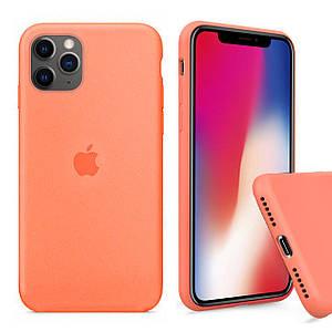 Чохол накладка xCase для iPhone 11 Pro Max Silicone Case Full papaya
