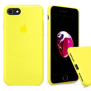 Чохол накладка xCase для iPhone 7/8 Silicone Case Full лимонний