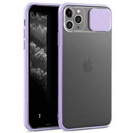 Чехол накладка xCase для iPhone 12 Mini Slide Hide Camera Lilac, фото 2