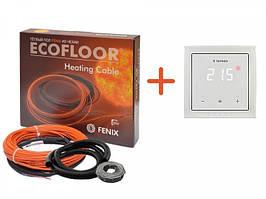 Тонкий кабель Fenix ADSV18420 ( 2.4 м2) з сенсорним терморегулятором Terneo S (Повний комплект)
