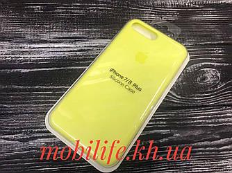 Silicon Case Original Apple iPhone 7Plus,8Plus/Лимонный/Высокое Качество/