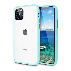 Чехол накладка xCase для iPhone 11 Gingle series light blue orange