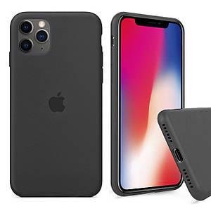 Чохол накладка xCase для iPhone 11 Pro Max Silicone Case Full charcoal grey